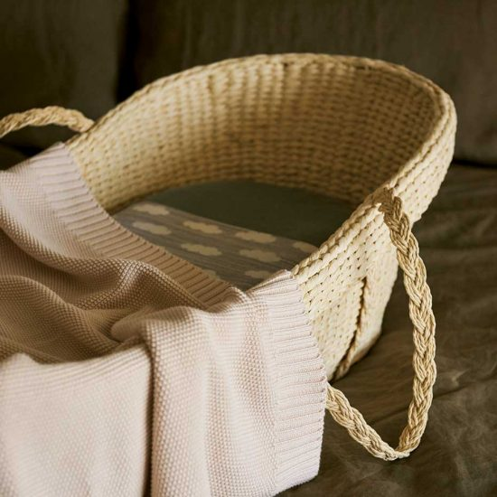 One of the things your baby will need is their own safe sleeping space, like a Moses basket