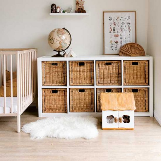 Organised nursery ready for baby's arrival