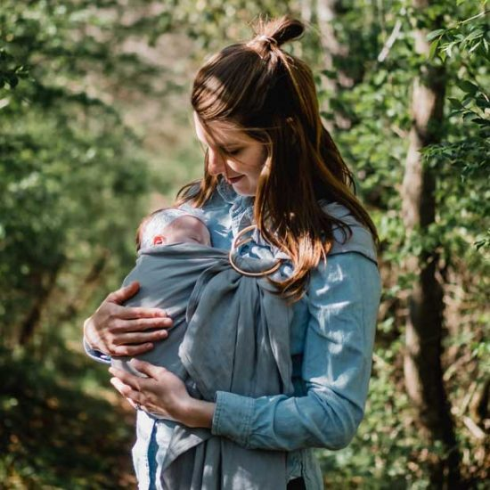 Mum with newborn baby on parental leave