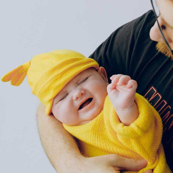 Upset and uncomfortable baby
