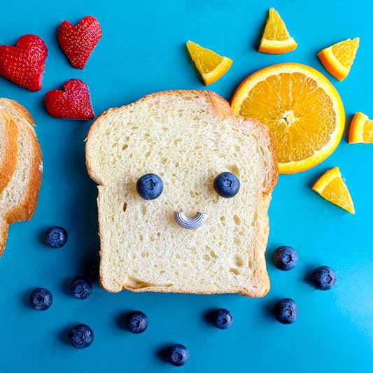 Fruit is a healthy meal choice for a toddler