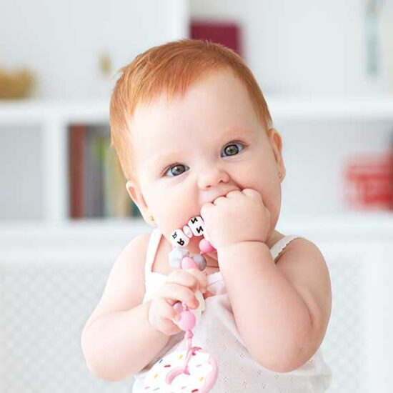 Small objects aren't safe for your baby as they are a choking hazard
