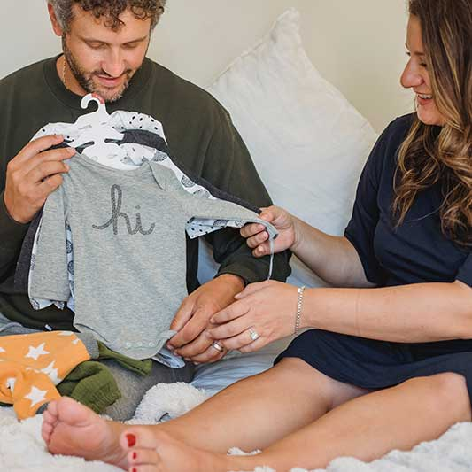 Dress your baby in cotton bodysuits