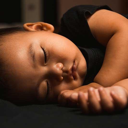 Toddler sleeps soundly