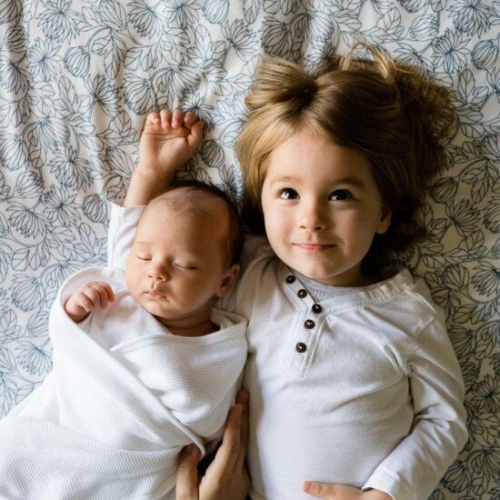 Newborn toddler siblings